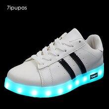 7 ipupas детская повседневная одежда светодиодные кроссовки для мальчиков и девочек танец света USB светящиеся кроссовки Tenis con Luz schoenen Met licht glowing кроссовки