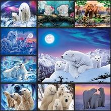 DIY 5D fullDiamond Mosaic Polar bear Handmade Diamond Painting Cross Stitch Kits Embroidery Patterns gift