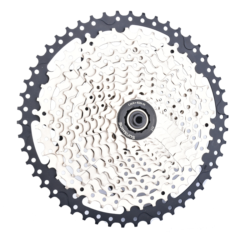 Taiwan SUNSHIN Mtb Bike Flywheel 11-50T 11 Speed Stainless Steel Bicycle Hub Cassette For SHIMANO XT M8000 and SRAM Chain wheel west biking bike chain wheel 39 53t bicycle crank 170 175mm fit speed 9 mtb road bike cycling bicycle crank