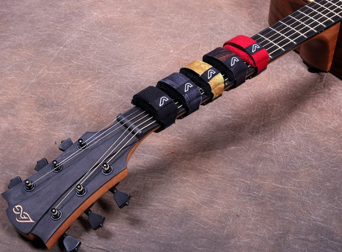 Gruv de FretWraps de amortiguadores de Muters para guitarra acústica guitarra ukelele solo paquete con muchos colores
