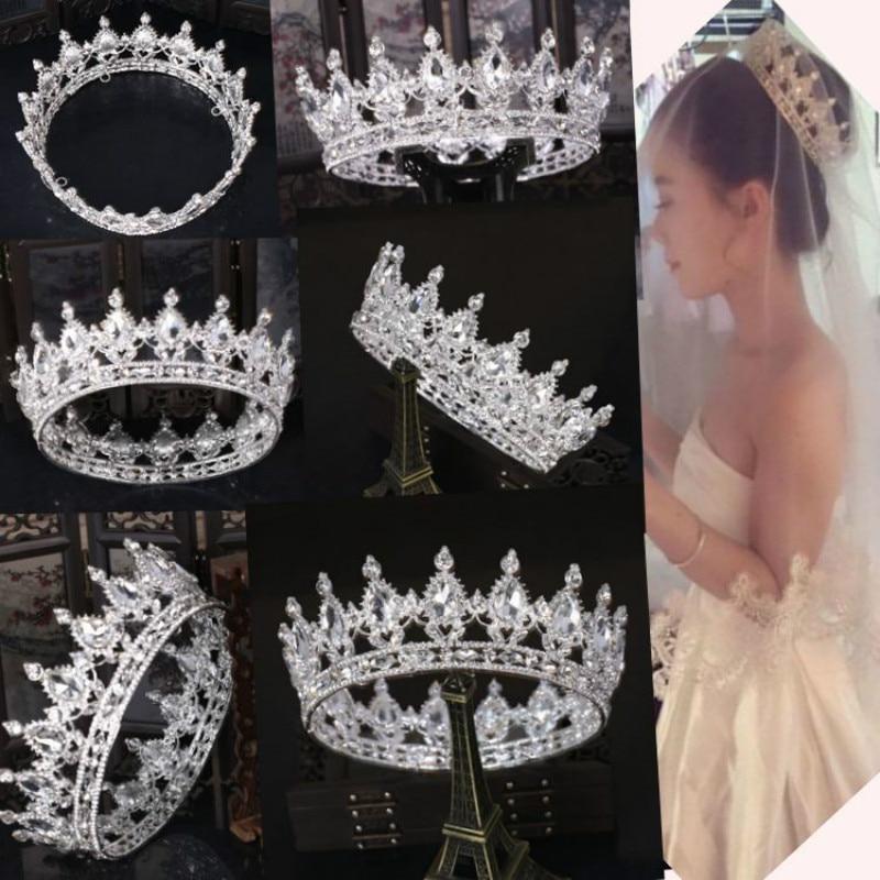 Chaude Projetos Europeus Pavao Ne Vintage Acessorios de Cristal Da Tiara Ne Casamento Coroa de Noiva Tiara de Strass Diadèmes Coroas