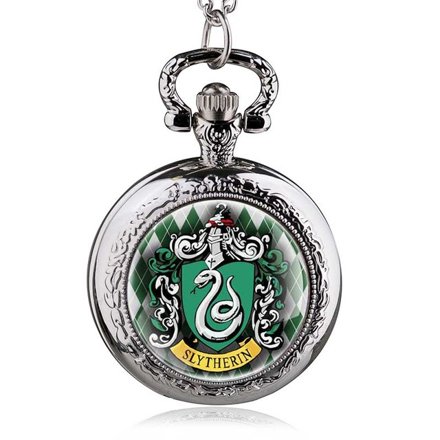 New Fashion Witchcraft Slytherin Hogwarts School Snake Pendant Necklace Dome Qua