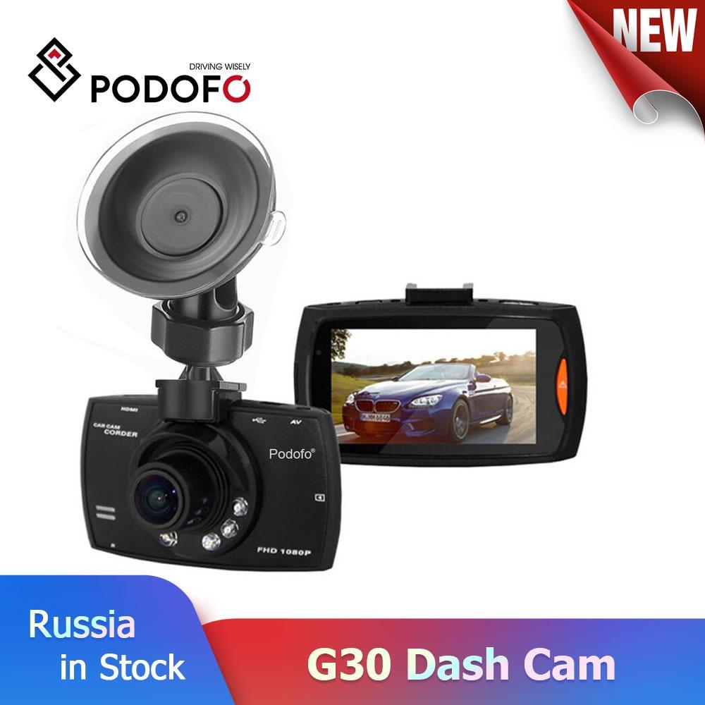 Podofo Car DVR Camera Dashcam Full-Hd G-Sensor Video-Registrars Night-Vision 140-Degree