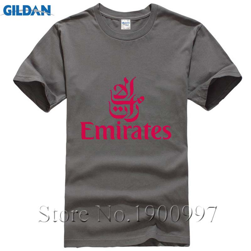 FLY EMIRATES Airlines T-shirt Top Lycra Cotton Men T shirt New Design High Quality Digital Inkjet PrintingHigh Quality Custom