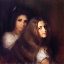 Unframed Canvas Prints - Elizabeh And Carmen Pinschof - By Tom Roberts