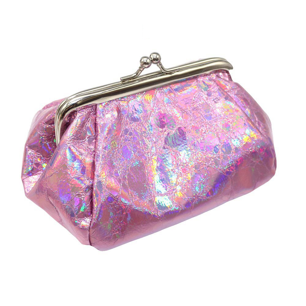 Women Girls Reflector Laser Coin Purse Wallet Bag Change Pouch Key Holder Dropshipping JULY2
