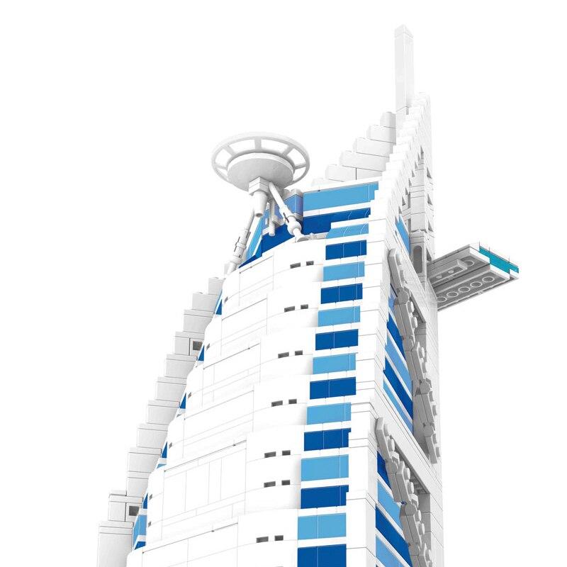 Bau- & Konstruktionsspielzeug-Sets 1307 stücke Kunststoff Weltberühmte Dubai Burj Al Arab Hotel Bausteine