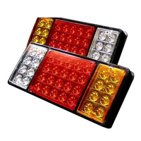 TOYL 2X 12V 36 LED Trailer Truck Stop Rear Tail Indicator Reverse Lamp Light Caravan