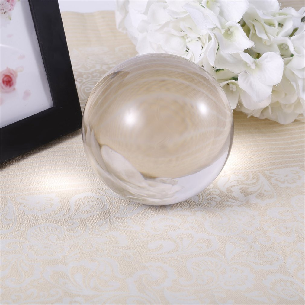 60mm 80mm 100mm Clear Round Glass Artificial Crystal Healing Ball Sphere Decoration