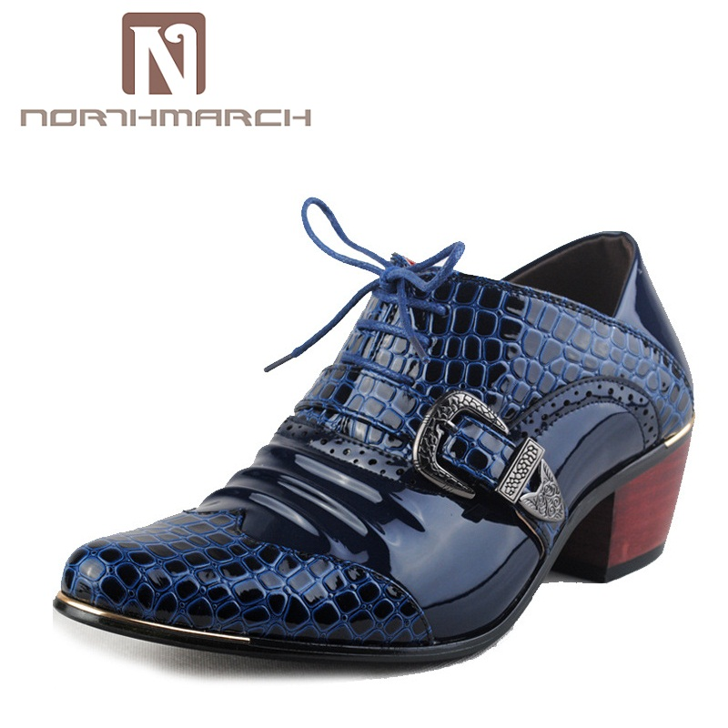 купить NORTHMARCH Men Flat Shoes 2018 Hot Fashion Party And Wedding Lace-Up Breathable Leather Casual Shoes Men Sapato Masculino Social недорого