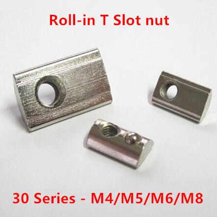 50 шт 30-M4/M5/M6/M8 T слот гайки полукруглая эластичность пружинная шайба для 3030 серии Groove 8 аксессуары для алюминиевых профилей