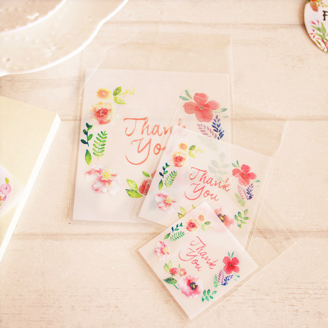 Personalized Thank You Favor Tags With Watercolor Flowers Perfect For Snack Bag Cookie
