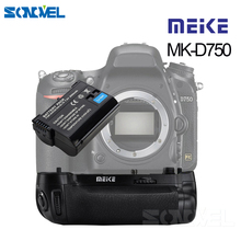 MEIKE MK D750 بطارية قبضة حزمة استبدال MB D16 مع 1 قطعة بطارية EN EL15 لكاميرا نيكون D750 DSLR