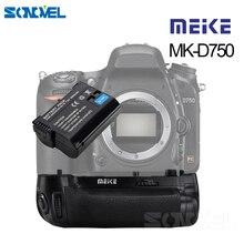 MEIKE MK D750 pil yuvası Paketi Değiştirme MB D16 Ile 1 adet EN EL15 Fotoğraf makinesi Pili D750 DSLR Kamera