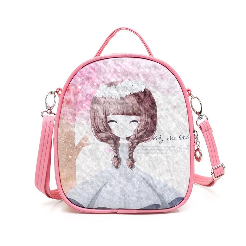 2017 New Summer Small Cute Bag Children Kids Handbag Girls Shoulder Bag Cartoon Messenger Bags Purses Long Strap Free Shipping