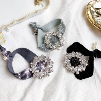 Korea Flower Rhinestone Hair Accessories Hair Bows Elastic Hair Bands Rubber Band Headbands For Girls Shinny Crystal Hair Tie chimera rhinestone hair clips color flower snowflake hairpin buckles diy hair rubber bands ties shinny women accessories jewelry