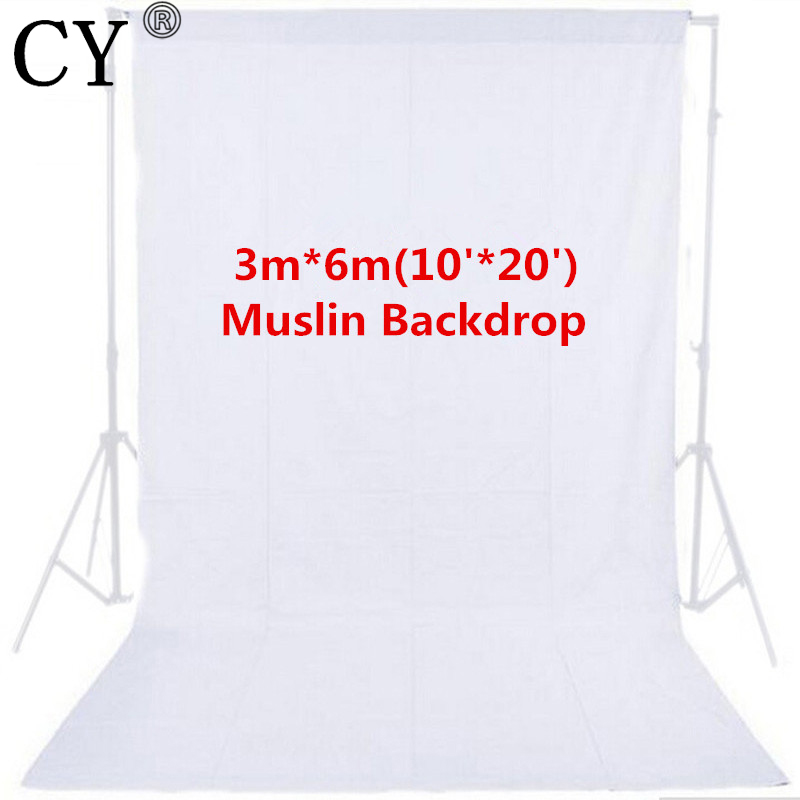 CY High Quality Photo Studio 10ft x 20ft 3mx6m Solid White Muslin Backdrop Photography Backgrounds Backdrops Hot Selling 300cm 200cm about 10ft 6 5ft backgrounds expensive sports car parked in front of the photography backdrops photo lk 1388