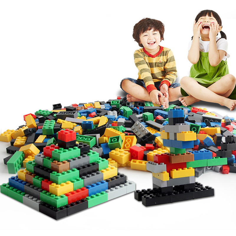HaveFun 1000Pcs DIY City Creative Building Blocks Bricks Educational toys Compatible With Legoingly Bricks For Children Gifts 70pcs large size letters paradise building blocks letter bricks educational toys compatible with legoeingly duplos free shiping