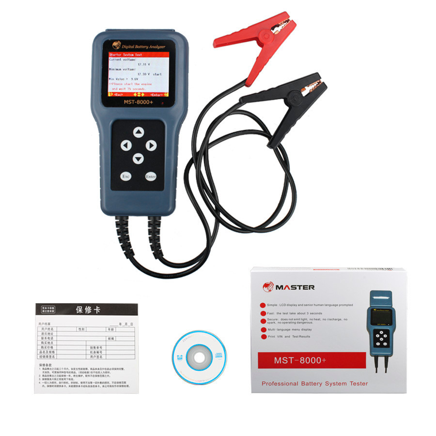 Aliexpress com buy mst 8000 digital battery analyzer 100 original scanner mst 800 battery tester from reliable tester renault suppliers on obd fox
