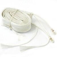 Cinta de calefacción de fibra de vidrio, 220V, 1 M de largo, 100W de temperatura para tubería de agua seca, banda de alambre para calentador eléctrico, fibra de vidrio, P0.05