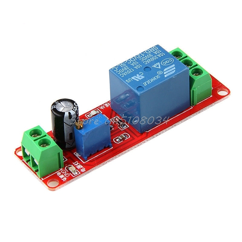 DC 12 V Vehicle Delay Relay Shield Module NE555 Timer Adjustable Switch 0 ~ 10 S S08 Drop ship 1pc red dc12v pull delay timer switch adjustable relay module 0 to10 second t1098 p