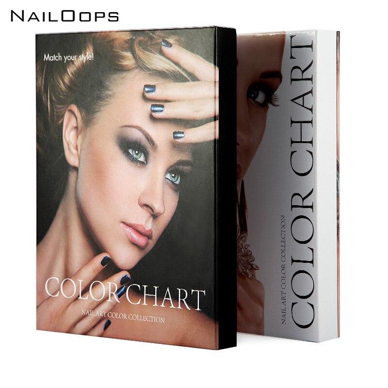 2pcs Nail Color Card Chart Gel Nail Polish Color Display Box 120 Color Model Salon Nail Shop Dedicated Tools