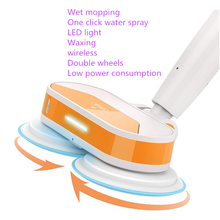 Free shipping Dry and wet mopping cleaner robots with automatic water spray,LED light,waxing