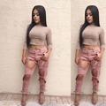 Alta qualidade temperado moda longas calças de brim magros elegantes calças jeans sexy mulheres bodycon jeans K002