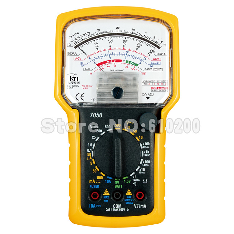 FreeShipping Brand KTI High precision High sensitivity Pointer Multimeter Ohm Test Meter Analog Multimeter EN61010 1,CAT II,600V