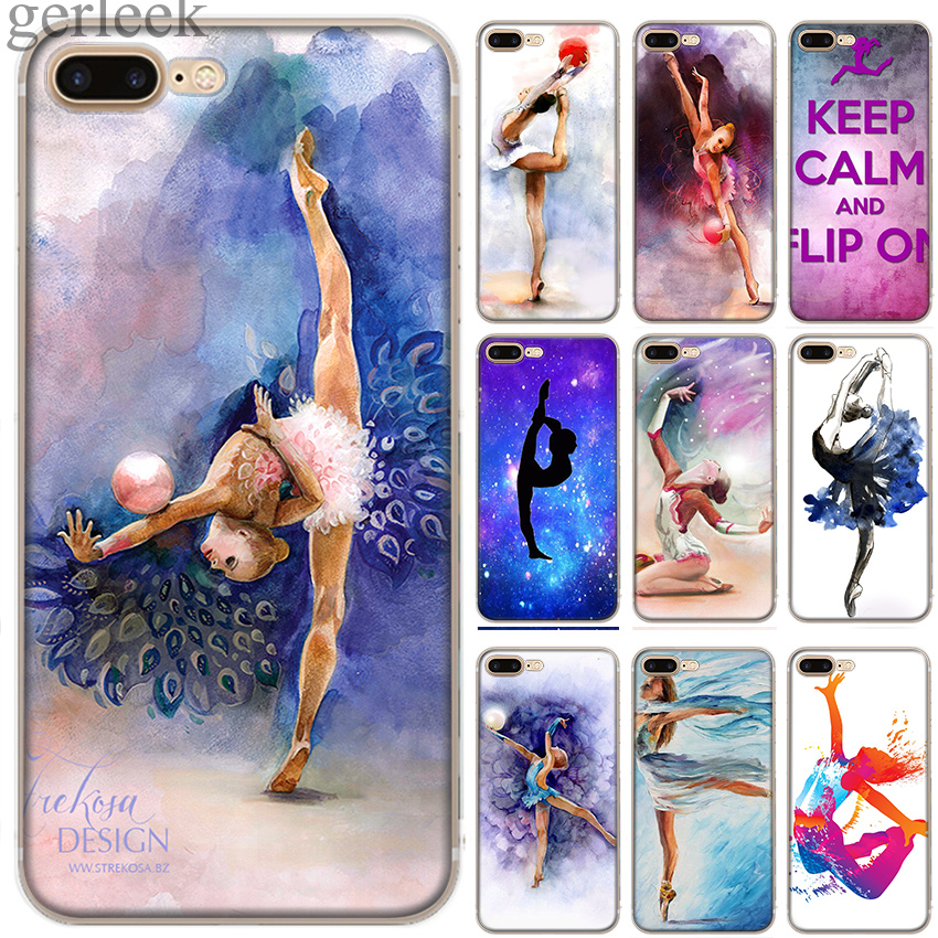 Case Phon Cover Love <font><b>Gymnastics</b></font> Oil Painting For iPhone 11 Pro 5 5S SE 6 6S 7 8 Plus X XR XS Max Cases image