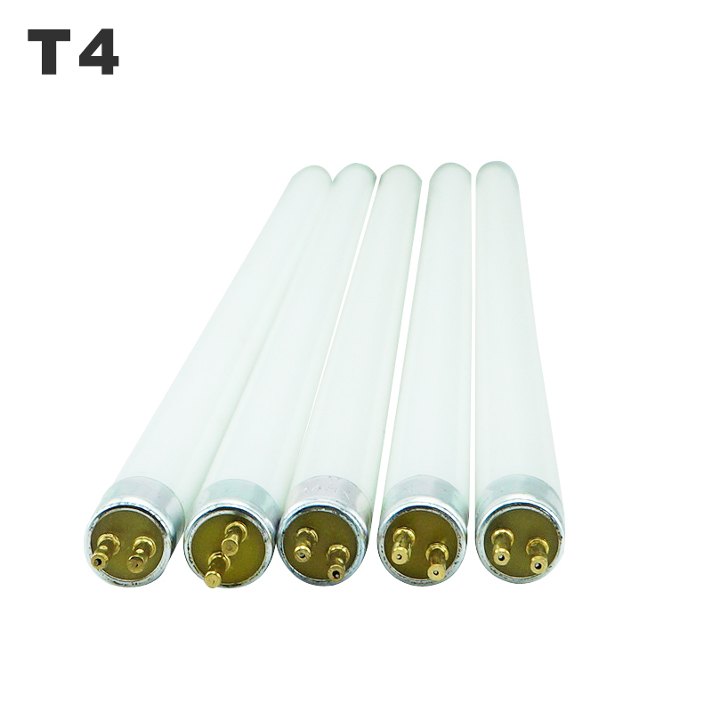 T4 Fluorescent Light Tube T4 Mirror Front Lamp 6W 8W White Yellow Blue Green Lens Headlight Mirror Light 220V Lighting Fixture