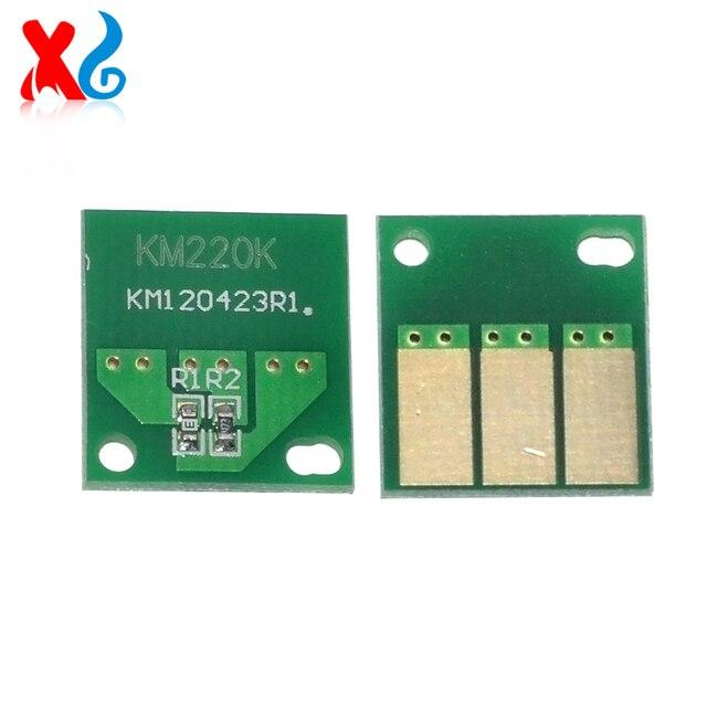 US $19 11 8% OFF|4 Sets Compatible Drum Cartridge Reset Chip Replacement  for Konica Minolta Bizhub C220 C280 C360 C7822 for Aficio MD D400 Part -in