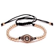 Модный очаровательный браслет от сглаза из нержавеющей стали кожаный браслет с бусинами для мужчин и женщин повседневные ювелирные аксессуары