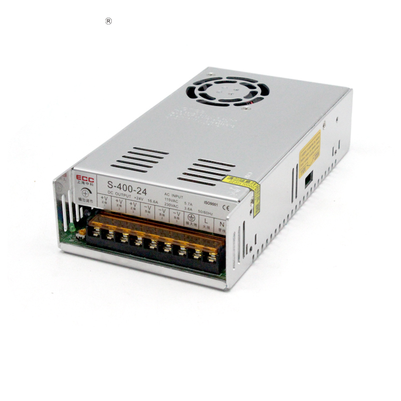 Switching Mode Power Supply S-400W-24V 16.6A Automation Heat Sell Monitor LED Camera AC Change DC switching mode power supply s 250w 24v 10 4a foot power electric machinery fan monitor ac change dc package postal