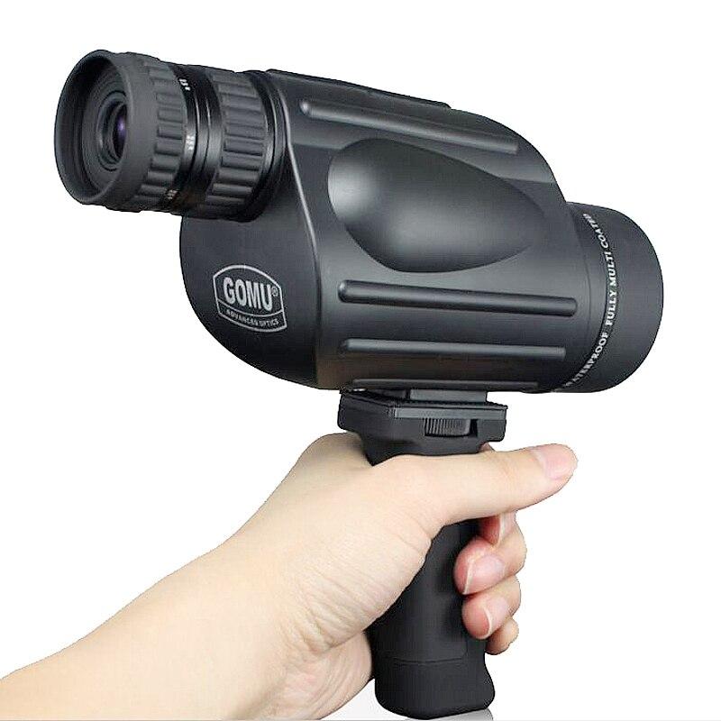 Gomu 10-30X50 HD Zoom Monocular pájaro reloj de alta calidad nitrógeno impermeable telescopio binoculares prismáticos binoculares de caza a prueba de golpes a prueba de trípode - 5