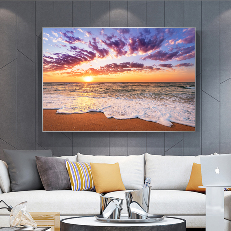 Modern Landscape Wall Art no frame Canvas Painting Dropshipping Canvas Prints Wall Art Pictures Living Room Decor Discounted in Painting Calligraphy from Home Garden
