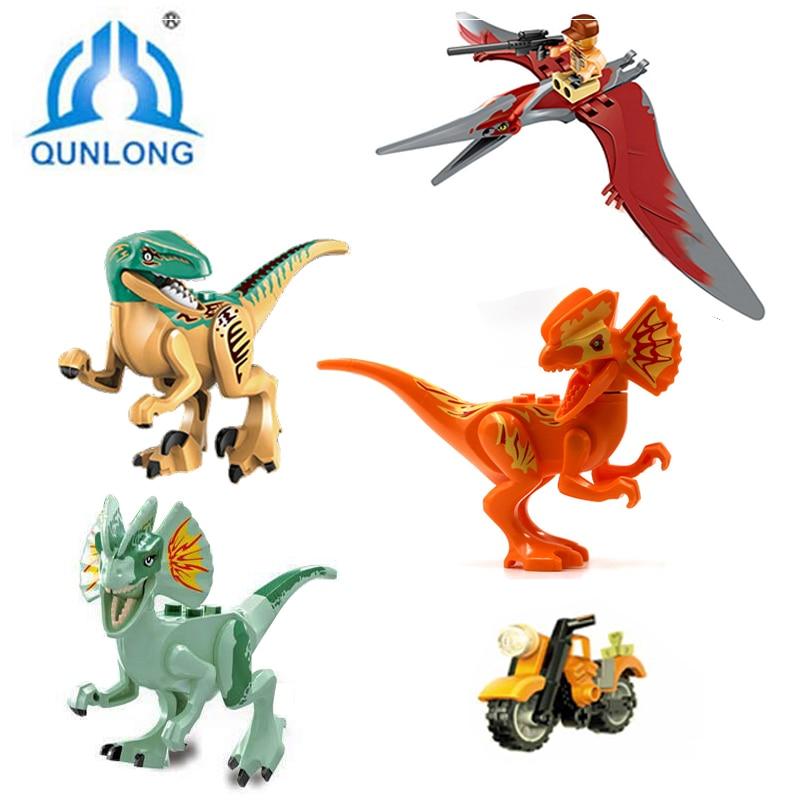 №Qunlong 406 unids mundo Raptor escapa Jurassic Park dinosaurio ...