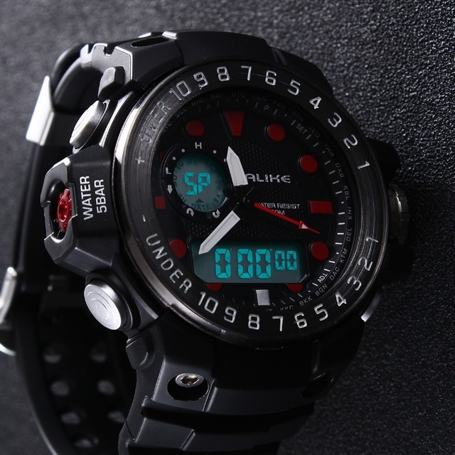 Multifunction Men LED Digital Watch Alike Army Military Dive Swim Sport Watches Waterproof Wristwatch orologio uomo Reloj Hombre