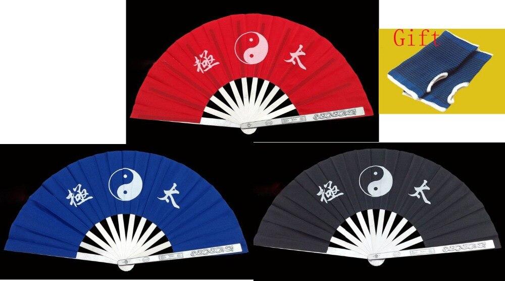 Vriendelijk 3 Kleur Hoge Kwaliteit Rood/blauw/zwart Rvs Fan Rib Vechtsport Wushu Tai Chi Fan Kung Fu Oefening Taiji Quan Fans Uitstekende (In) Kwaliteit