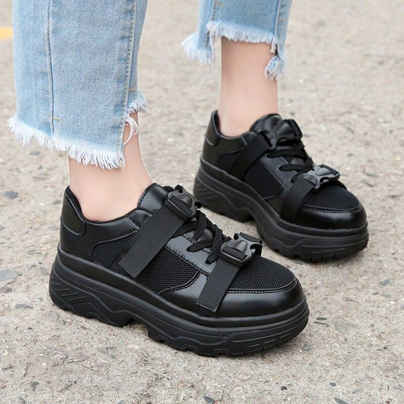 Chaussures Boucle Mode Black Papa Mesh Casual white 2018 Plat Plate Mme Femmes De forme Femelle pXnHqC