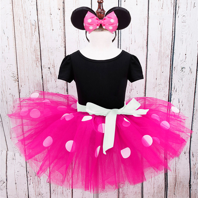2017 Summer Baby Girls Dress Minnie Mouse Dresses For Girls Princess Minnie Dress Birthday Party Children Clothes Kids Costume цены
