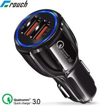 Crouch Quick Charge 3.0 Charger QC 3.0 5V 9V 12V Dual USB Car Charge Fast Charger Mobile