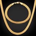 Longo Foxtail Cadeia Pulseira Colar Set 6mm Atacado Ouro Amarelo Preto Rosa Banhado A Ouro de Cadeia Para Homens Jóias NH435