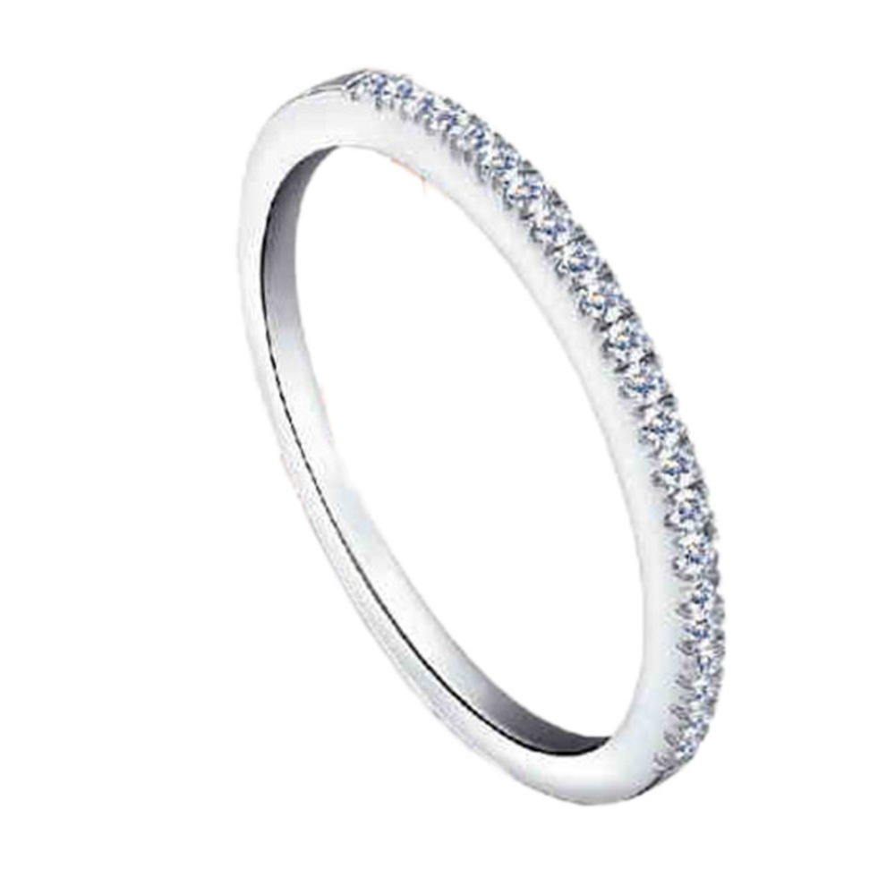 New Fashion Brand  Wedding Party Silver Gold Color CZ Zircon Ring Jewelry Love Rings For Women Jewelry Gift