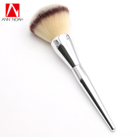 Perfect Silver Long Plastic Handle Mushroom Shape Head It 211 Extra Large All Over Powder Makeup