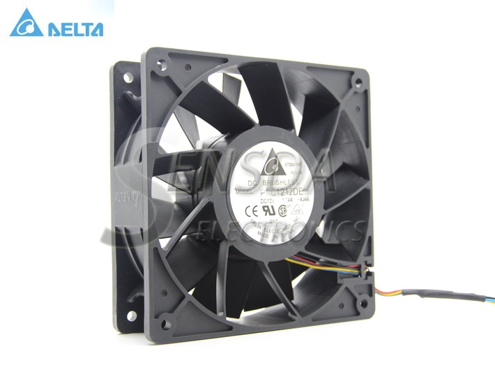 Original Delta PFC1212DE 12038 DC 12V 3.24A  12cm ultra high transfer the the violent gale amount of fan For ML370G5 Server Fan new original delta 12cm tha1248be 12038 48v 2 6a cooling fan
