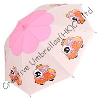 Children umbrella,cartoon design,auto open.8mm steel shaft and fluted ribs,safe&enviroment kid PVC umbrellas