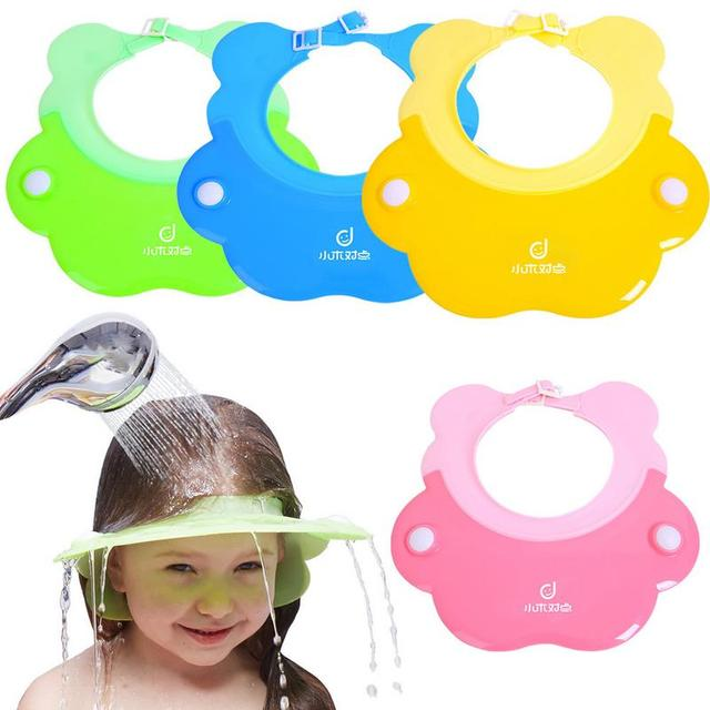 Children's Shampoo Cap Baby Waterproof Cap Silicone High Elastic Thickening Plus Adjustable Ear Protection Child Shampoo Artifac