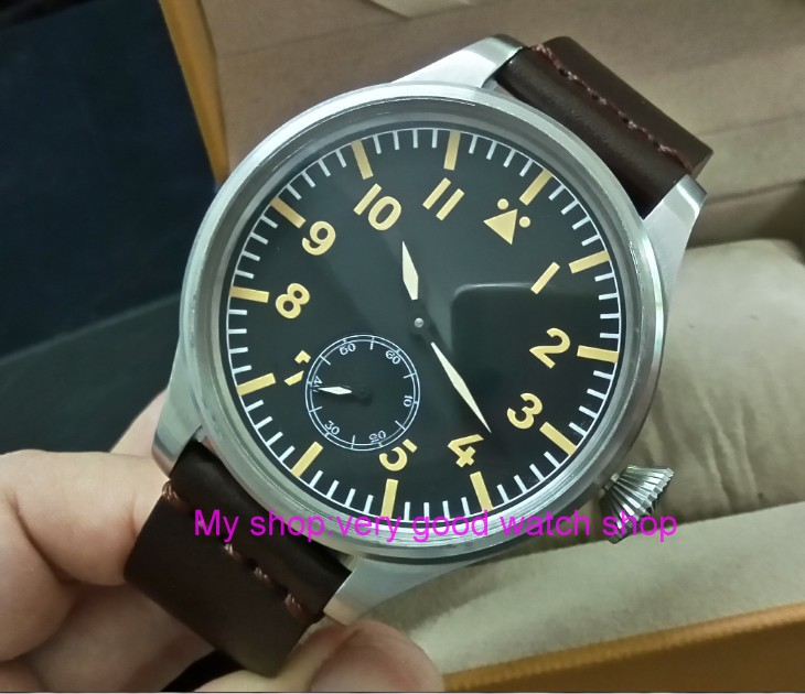 55 mm very big dial PARNIS Asian 6498 Mechanical Hand Wind Mechanical movement men watches Mechanical watches DF356a limited edition watch 50mm big dial parnis men s watch asian 6498 mechanical hand wind pvd black watchcase 84aa