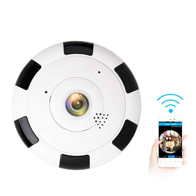 2MP Wireless WiFi HD 960P 360 Degree Fisheye Panoramic IP Camera IR Night Vision Home Security Mini Camera Baby Monitor howell wireless security hd 960p wifi ip camera p2p pan tilt motion detection video baby monitor 2 way audio and ir night vision